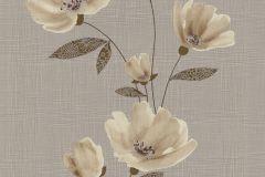 13488-60 cikkszámú tapéta.Csíkos,dekor tapéta ,különleges felületű,különleges motívumos,rajzolt,retro,természeti mintás,virágmintás,barna,bézs-drapp,szürke,lemosható,illesztés mentes,vlies tapéta