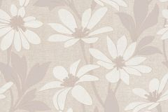 13524-10 cikkszámú tapéta.Különleges felületű,különleges motívumos,rajzolt,retro,természeti mintás,textil hatású,virágmintás,bézs-drapp,szürke,vajszín,lemosható,vlies tapéta