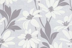 13524-30 cikkszámú tapéta.Dekor tapéta ,különleges felületű,különleges motívumos,rajzolt,természeti mintás,textil hatású,virágmintás,fehér,szürke,lemosható,vlies tapéta