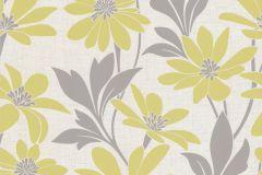 13524-40 cikkszámú tapéta.Dekor tapéta ,különleges felületű,különleges motívumos,rajzolt,retro,természeti mintás,textil hatású,virágmintás,bézs-drapp,sárga,szürke,zöld,lemosható,vlies tapéta