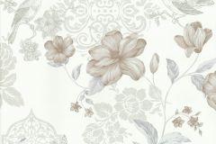 20320-20 cikkszámú tapéta.állatok,különleges felületű,különleges motívumos,rajzolt,természeti mintás,textil hatású,virágmintás,barna,bézs-drapp,fehér,kék,szürke,súrolható,papír tapéta