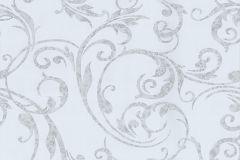 42119-10 cikkszámú tapéta.Barokk-klasszikus,különleges motívumos,rajzolt,virágmintás,ezüst,kék,szürke,súrolható,vlies tapéta