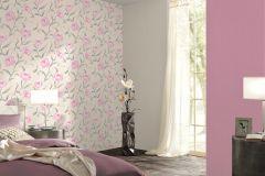 42123-10 cikkszámú tapéta.Különleges felületű,metál-fényes,rajzolt,természeti mintás,virágmintás,fehér,lila,szürke,súrolható,vlies tapéta