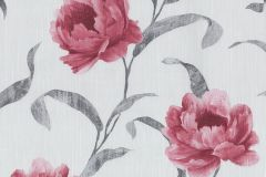 42123-30 cikkszámú tapéta.Különleges felületű,metál-fényes,rajzolt,virágmintás,ezüst,piros-bordó,szürke,súrolható,vlies tapéta
