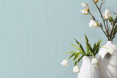 02484-50 cikkszámú tapéta.Egyszínű,különleges felületű,különleges motívumos,türkiz,súrolható,illesztés mentes,vlies tapéta