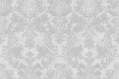 02485-10 cikkszámú tapéta.Barokk-klasszikus,csillámos,különleges felületű,különleges motívumos,metál-fényes,retro,ezüst,szürke,súrolható,vlies tapéta