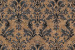 02485-40 cikkszámú tapéta.Barokk-klasszikus,csillámos,különleges felületű,különleges motívumos,metál-fényes,retro,barna,fekete,súrolható,vlies tapéta