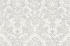 02485-50-1 cikkszámú tapéta.Barokk-klasszikus,csillámos,különleges felületű,különleges motívumos,metál-fényes,retro,ezüst,fehér,szürke,  tapéta