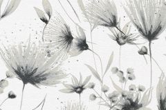 13567-10 cikkszámú tapéta.Különleges felületű,természeti mintás,virágmintás,fehér,szürke,lemosható,vlies tapéta
