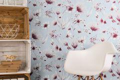 13567-30 cikkszámú tapéta.Különleges felületű,természeti mintás,virágmintás,fehér,kék,piros-bordó,szürke,lemosható,vlies tapéta