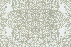 02465-20 cikkszámú tapéta.Barokk-klasszikus,csillámos,különleges motívumos,ezüst,fehér,szürke,súrolható,vlies tapéta