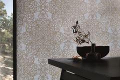 02465-40 cikkszámú tapéta.Barokk-klasszikus,csillámos,különleges motívumos,arany,kék,szürke,súrolható,vlies tapéta