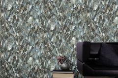 42511-20 cikkszámú tapéta.3d hatású,absztrakt,különleges felületű,különleges motívumos,ezüst,kék,szürke,súrolható,vlies tapéta