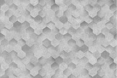 42512-30 cikkszámú tapéta.3d hatású,absztrakt,különleges felületű,különleges motívumos,ezüst,szürke,súrolható,vlies tapéta