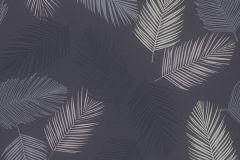 13480-40 cikkszámú tapéta.Rajzolt,természeti mintás,fehér,fekete,szürke,lemosható,vlies tapéta