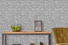 05591-30 cikkszámú tapéta.Kőhatású-kőmintás,szürke,gyengén mosható,papír tapéta