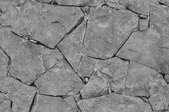 05592-10 cikkszámú tapéta.Fotórealisztikus,kőhatású-kőmintás,fekete,szürke,gyengén mosható,papír tapéta