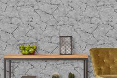05592-40 cikkszámú tapéta.Fotórealisztikus,kőhatású-kőmintás,fekete,szürke,gyengén mosható,papír tapéta