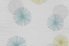 13584-40 cikkszámú tapéta.Különleges felületű,különleges motívumos,retro,kék,sárga,szürke,lemosható,illesztés mentes,vlies tapéta