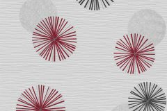 13584-50 cikkszámú tapéta.Különleges felületű,különleges motívumos,retro,fekete,piros-bordó,szürke,lemosható,illesztés mentes,vlies tapéta