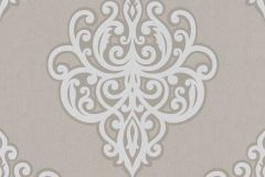02491-20 cikkszámú tapéta.Barokk-klasszikus,csillámos,ezüst,szürke,súrolható,vlies tapéta