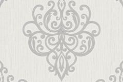 02491-30 cikkszámú tapéta.Barokk-klasszikus,csillámos,ezüst,fehér,szürke,súrolható,vlies tapéta