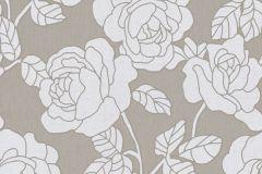 02492-20 cikkszámú tapéta.Barokk-klasszikus,csillámos,virágmintás,ezüst,szürke,súrolható,vlies tapéta