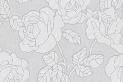02492-50 cikkszámú tapéta.Barokk-klasszikus,csillámos,virágmintás,fehér,szürke,súrolható,vlies tapéta