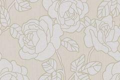 02492-60 cikkszámú tapéta.Barokk-klasszikus,csillámos,virágmintás,bézs-drapp,ezüst,súrolható,vlies tapéta