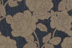 02492-70 cikkszámú tapéta.Barokk-klasszikus,csillámos,virágmintás,barna,fekete,súrolható,vlies tapéta