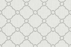 02493-30 cikkszámú tapéta.Barokk-klasszikus,csillámos,geometriai mintás,különleges motívumos,ezüst,fehér,szürke,súrolható,vlies tapéta