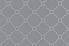 02493-40 cikkszámú tapéta.Barokk-klasszikus,csillámos,geometriai mintás,különleges motívumos,ezüst,szürke,súrolható,vlies tapéta