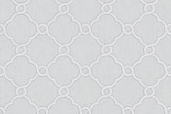 02493-50 cikkszámú tapéta.Barokk-klasszikus,csillámos,geometriai mintás,különleges motívumos,fehér,szürke,súrolható,vlies tapéta