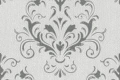 02522-10 cikkszámú tapéta.Barokk-klasszikus,különleges felületű,különleges motívumos,ezüst,szürke,súrolható,vlies tapéta