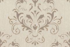 02522-20 cikkszámú tapéta.Barokk-klasszikus,különleges felületű,különleges motívumos,barna,bézs-drapp,súrolható,vlies tapéta