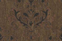 02522-30 cikkszámú tapéta.Barokk-klasszikus,különleges felületű,különleges motívumos,arany,barna,fekete,piros-bordó,súrolható,vlies tapéta