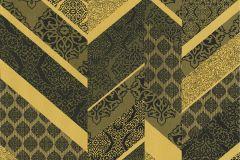 02534-10 cikkszámú tapéta.Dekor tapéta ,különleges felületű,különleges motívumos,arany,fekete,súrolható,illesztés mentes,vlies tapéta