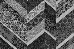 02534-20 cikkszámú tapéta.Dekor tapéta ,különleges felületű,különleges motívumos,ezüst,fekete,szürke,súrolható,illesztés mentes,vlies tapéta