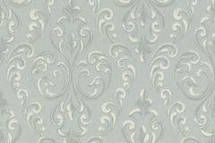 085159 cikkszámú tapéta.Barokk-klasszikus,valódi textil,ezüst,szürke,vlies tapéta
