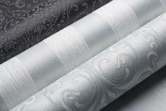 085050 cikkszámú tapéta.Csíkos,valódi textil,ezüst,szürke,illesztés mentes,vlies tapéta