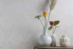085210 cikkszámú tapéta.Barokk-klasszikus,valódi textil,bézs-drapp,vajszín,vlies tapéta