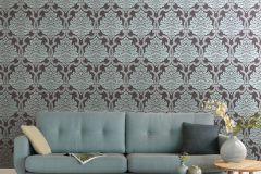 085258 cikkszámú tapéta.Barokk-klasszikus,valódi textil,lila,szürke,vlies tapéta