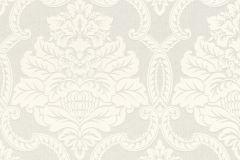 085296 cikkszámú tapéta.Barokk-klasszikus,valódi textil,ezüst,fehér,vlies tapéta