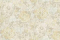 958508 cikkszámú tapéta.Különleges felületű,textilmintás,virágmintás,bézs-drapp,kék,sárga,zöld,lemosható,vlies tapéta
