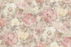 958515 cikkszámú tapéta.Különleges felületű,textilmintás,virágmintás,bézs-drapp,sárga,szürke,lemosható,vlies tapéta