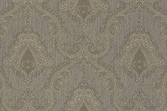 959932 cikkszámú tapéta.Barokk-klasszikus,különleges felületű,textilmintás,barna,szürke,lemosható,vlies tapéta