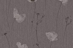573701 cikkszámú tapéta.Textil hatású,virágmintás,fekete,szürke,lemosható,illesztés mentes,vlies tapéta