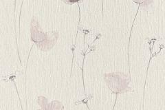573725 cikkszámú tapéta.Textil hatású,virágmintás,barna,bézs-drapp,fehér,szürke,illesztés mentes,lemosható,vlies tapéta