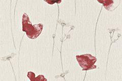 573732 cikkszámú tapéta.Textil hatású,virágmintás,bézs-drapp,piros-bordó,szürke,lemosható,illesztés mentes,vlies tapéta