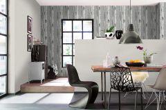 574548 cikkszámú tapéta.Fa hatású-fa mintás,természeti mintás,textil hatású,ezüst,fehér,fekete,szürke,lemosható,illesztés mentes,vlies tapéta
